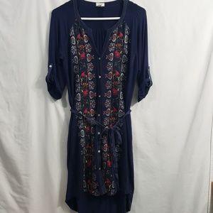 Anthropologie Tiny embroidered plein air dress xs
